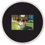 Tub 012 Round Beach Towel