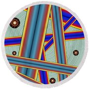 Tubes Two Round Beach Towel