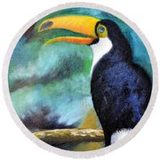 Tucan Round Beach Towel