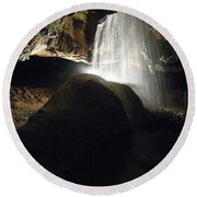 Tuckaleechee Cavern Waterfall Round Beach Towel