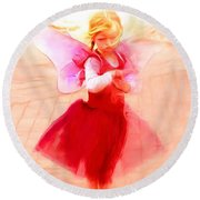 Tucson Angel Round Beach Towel
