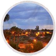 Tucson Skies Round Beach Towel