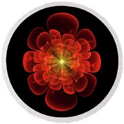 Tudor Rose - Abstract Round Beach Towel