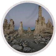 Tufas At Dusk No.2 Round Beach Towel by Margaret Pitcher