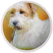 Tuffy The Russell Terrier Round Beach Towel