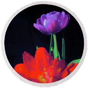 Tulip 15 Round Beach Towel