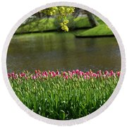 Tulip-5 Round Beach Towel