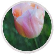 Tulip Apricot Beauty Round Beach Towel