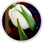 Tulip Arrangement 4 Round Beach Towel