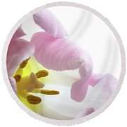 Tulip Bloom Round Beach Towel