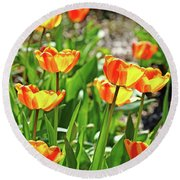 Tulip Bouquet Round Beach Towel