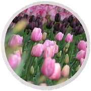 Tulip Dreams Round Beach Towel