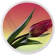 Tulip Love Round Beach Towel