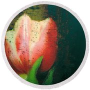 Tulip Of Love Round Beach Towel