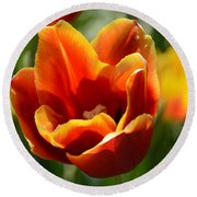 Tulip On Fire Round Beach Towel