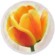 Tulip Orange Round Beach Towel