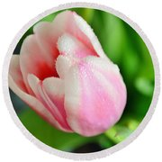 Tulip Portrait Round Beach Towel