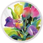 Tulip Pot Round Beach Towel