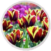 Tulip Treasures Round Beach Towel