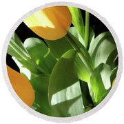 Tulip Trio Round Beach Towel