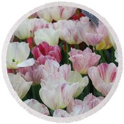 Tulips 3 Round Beach Towel
