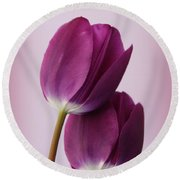Tulips Round Beach Towel by Diane Reed