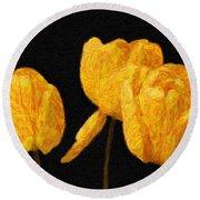 Tulips - Id 16235-220512-0422 Round Beach Towel