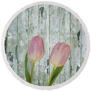 Tulips Two Round Beach Towel