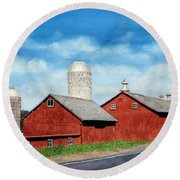 Tulmeadow Farm Round Beach Towel