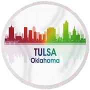 Tulsa Ok 1 Squared Round Beach Towel