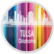 Tulsa Ok 2 Vertical Round Beach Towel