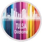 Tulsa Ok 2 Vertical Round Beach Towel