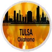 Tulsa Ok 3 Vertical Round Beach Towel