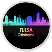 Tulsa Ok 5 Squared Round Beach Towel