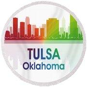 Tulsa Ok Round Beach Towel
