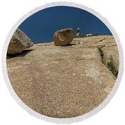 Tumbling Boulders Round Beach Towel