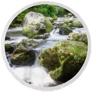 Tumbling Creek Round Beach Towel