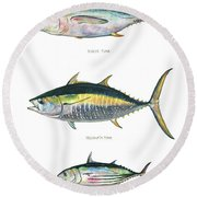 Tuna Fishes Round Beach Towel