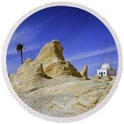 Tunisian Desertscape Round Beach Towel