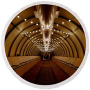 Tunnel Abstract Round Beach Towel