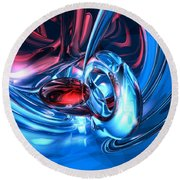 Tunnel Lust Abstract Round Beach Towel