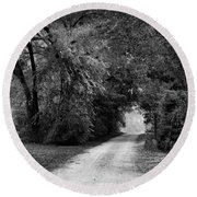 Tunnel Of Lydia Round Beach Towel