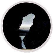 Tunnel To Cannon Beach I Round Beach Towel