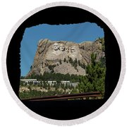 Tunnel View Mt Rushmore 2 A Round Beach Towel