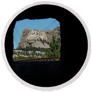 Tunnel View Mt Rushmore 2 B Round Beach Towel