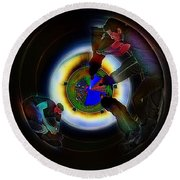 Tunnel Vision Up The Drain Round Beach Towel