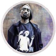 Tupac Shakur Round Beach Towel