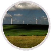 Turbines At Goonhaven Round Beach Towel