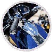 Turgalium Motorcycle Club 02 Round Beach Towel