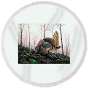 In Strut - Turkey Round Beach Towel